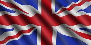 De vlag stromende achtergrond van het Verenigd Koninkrijk Groot-Brittannië Vector illustratie royalty-vrije stock afbeeldingen