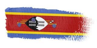 De Vlag Swasiland van de penseelstreek Royalty-vrije Stock Afbeeldingen