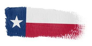 De Vlag Texas van de penseelstreek Royalty-vrije Stock Afbeeldingen