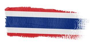 De Vlag Thailand van de penseelstreek royalty-vrije illustratie