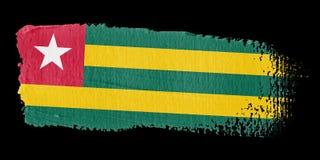 De Vlag Togo van de penseelstreek stock illustratie