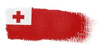 De Vlag Tonga van de penseelstreek Royalty-vrije Stock Fotografie