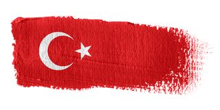 De Vlag Turkije van de penseelstreek Royalty-vrije Stock Foto's