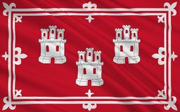 De vlag van Aberdeen is stad van Schotland, het Verenigd Koninkrijk van Grote Br Vector Illustratie