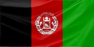 De Vlag van Afghanistan Royalty-vrije Stock Foto's