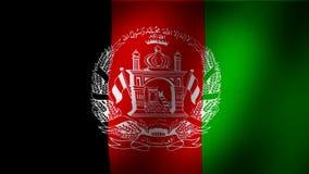 De vlag van Afghanistan royalty-vrije illustratie