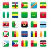 De vlag a van Afrika Royalty-vrije Stock Foto