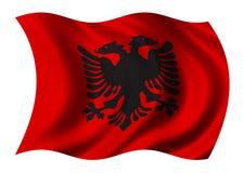 De Vlag van Albanië Royalty-vrije Stock Foto's