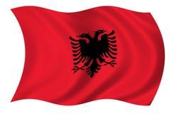 De Vlag van Albanië stock illustratie
