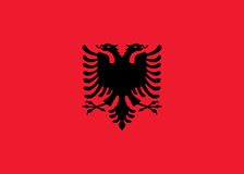 De vlag van Albanië royalty-vrije illustratie