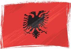 De vlag van Albanië van Grunge Stock Foto's