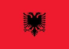 De vlag van Albanië Stock Foto's