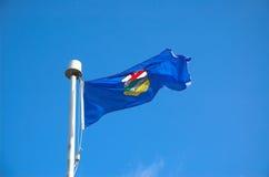 De Vlag van Alberta royalty-vrije stock afbeelding