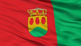 De Vlag van de Alcorconstad, Spanje, Close-upmening Vector Illustratie