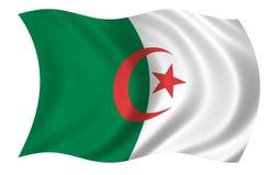 De Vlag van Algerije Royalty-vrije Stock Afbeeldingen