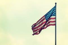De vlag van Amerika op de hemel Royalty-vrije Stock Afbeeldingen