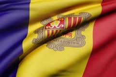De Vlag van Andorra het Golven vector illustratie