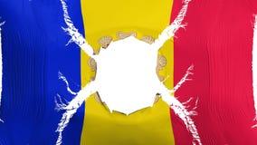 De vlag van Andorra met een gat royalty-vrije illustratie
