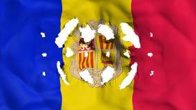 De vlag van Andorra met prikken royalty-vrije illustratie