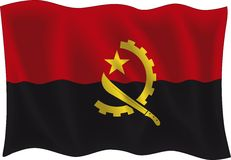 De vlag van Angola Royalty-vrije Stock Foto's