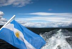 De vlag van Argentinië Stock Afbeeldingen