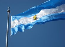 De Vlag van Argentinië Royalty-vrije Stock Foto