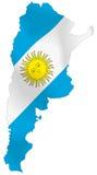 De vlag van Argentinië stock illustratie