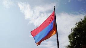 De Vlag van Armeni? het Golven stock video