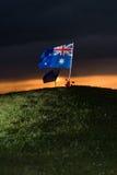 De vlag van Aussie met papavers 2 Royalty-vrije Stock Fotografie