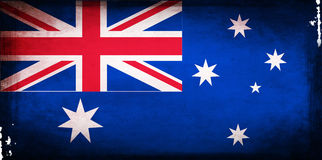 De vlag van Australië Stock Fotografie