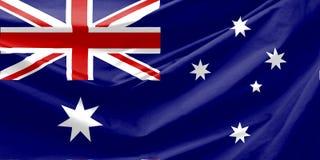 De Vlag van Australië Stock Afbeeldingen
