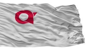 De Vlag van de Ayabestad, de Prefectuur van Japan, Kyoto, op Witte Achtergrond wordt geïsoleerd die stock illustratie