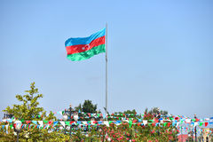 De vlag van Azerbeidzjan Stock Foto