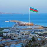 De vlag van Azerbeidzjan stock foto's