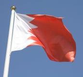 De vlag van Bahrein Stock Foto's