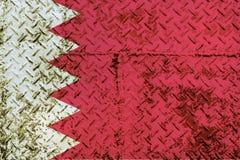 De vlag van Bahrein Royalty-vrije Stock Afbeelding