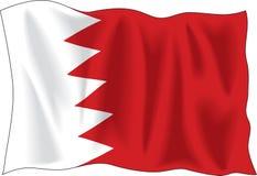 De vlag van Bahrein Stock Afbeeldingen
