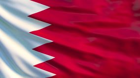 De vlag van Bahrein Golvende vlag van 3d illustratie van Bahrein royalty-vrije illustratie