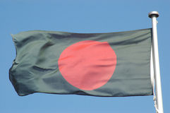 De vlag van Bangladesh stock fotografie