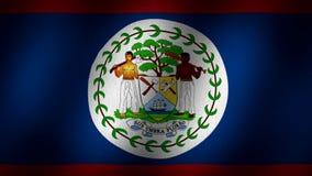De vlag van Belize vector illustratie