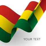 De Vlag van Bolivië Patriottisch ontwerp Vector vector illustratie