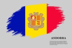 De Vlag van de borstelslag Vector illustratie royalty-vrije illustratie