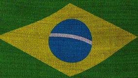 De Vlag van Brazilië stock footage