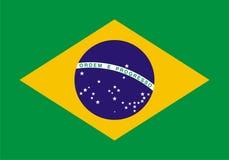 De vlag van Brazilië Royalty-vrije Stock Foto's