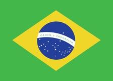 De Vlag van Brazilië royalty-vrije illustratie