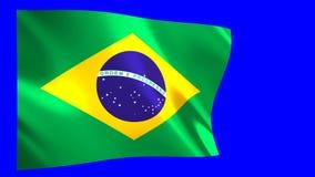 De vlag van Brazilië het golven vector illustratie