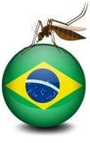 De vlag van Brazilië op bal en mug stock illustratie