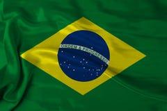 De vlag van Brazilië van het satijn Stock Foto's