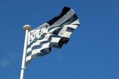 De vlag van Bretagne Stock Afbeeldingen