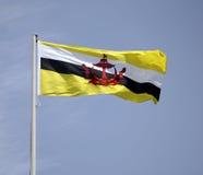 De Vlag van Brunei Stock Foto